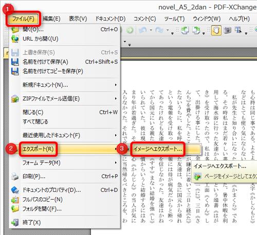 PDF-XChange Viewer操作画面