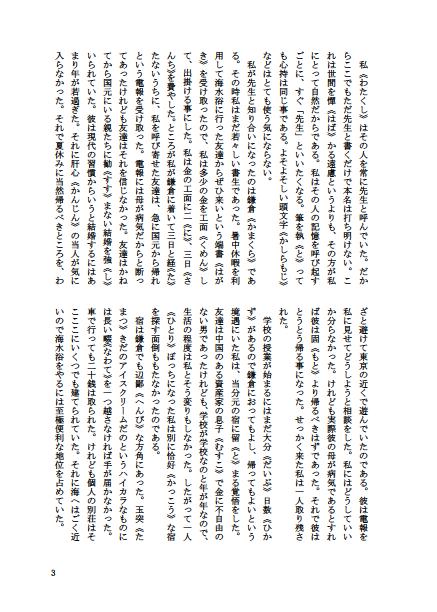 「Word入稿用小説テンプレート」のPDFを画像化したもの