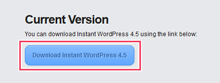 Instant WordPressのダウンロードページ